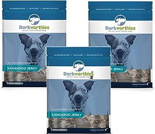Best Bully Sticks (3 Pack) Barkworthies All Natural Kangaroo Jerky Dog Chews - 4 Ounces Each