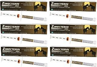 ZIMECTERIN GOLD 6 TUBES IVERMECTIN HORSE EQUINE WORMER PARASITES TAPEWORM 7.75% TUBE OTC