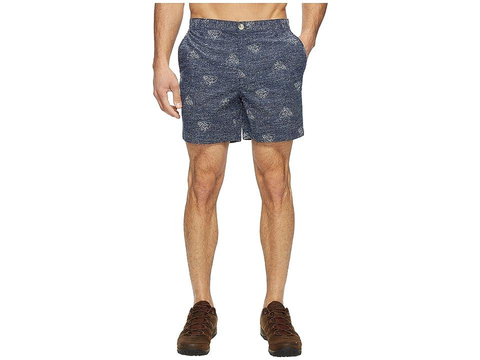 Columbia Super Bonehead II Shorts (Collegiate Navy Triangle Palms) Men