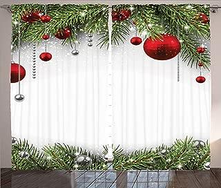 christmas curtains living room