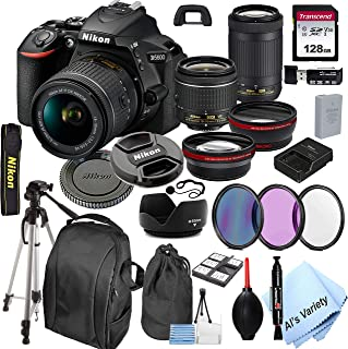 Nikon D5600 DSLR Camera with 18-55mm VR and 70-300mm Lenses + 128GB Card, Tripod,Back-Pack,Filters, 2X Telephoto Lens, HD ...