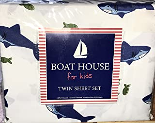 Boat House Sharks & Fish TWIN Size 3-Piece Sheet Set