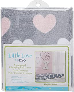 Little Love by NoJo Changing Table Cover, Hugs and Kisses