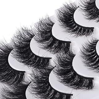 Sponsored Ad - Eyelashes 8D Mink Lashes Pack Natural Look Fluffy False Siberian Mink Eyelashes Dramatic Thick Wispy Eye La...