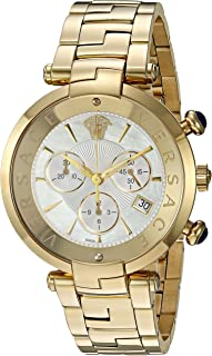 Versace Rêvive Chrono Swiss-Quartz Watch with Two-Tone-Stainless-Steel Strap, 184.7 (Model: VAJ060016