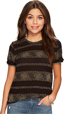 Lucky Brand - Metallic Stripe Tee