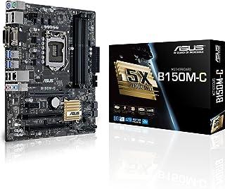 ASUS B150M-C - Placa Base Micro ATX (64 GB, 4 x DIMM, DDR4 2133 MHz, 6 x SATA 6 GB/s, 4 x USB 3.0)