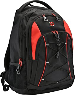 SwissGear 1186 Travel Bungee Backpack (Black/Red)