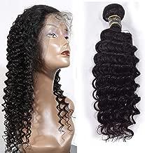 HZSHMM 10A Grade Brazilian Hair Deep Wave 1 Bundle 100g 12〞Natural Black 100% Unprocessed Virgin Human Hair Weaves Hair Weft Hair Extensions(12″)
