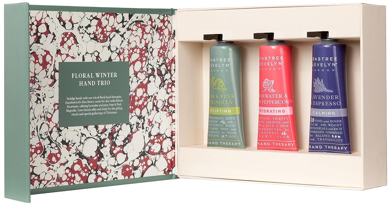 クラブツリー&イヴリン Floral Winter Hand Trio (1x Lavender & Espresso, 1x Rosewater & Pink Peppercorn, 1x Pear & Pink Magnolia) 3x25ml/0.86oz並行輸入品