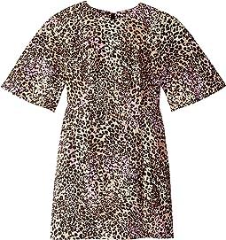 Leopard Cotton Sculpted Mini Dress