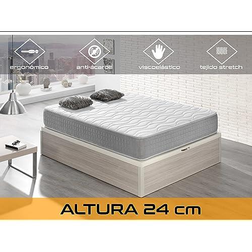 Dormi Premium Silver 24 - Colchón Viscoelástico, 135 x 190 x 24 cm, Algodón
