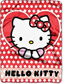 Sanrio Hello Kitty, Polka Dot Explosion Silk Touch Throw Blanket, 46