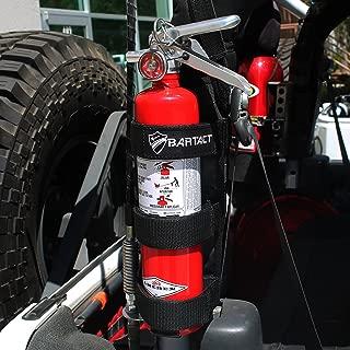 Bartact TAOFEH - Roll Bar Fire Extinguisher Holder Steel Brackets ABC (Black)