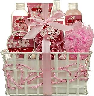 Mothers Day Gift Idea Spa Gift Basket – Bath and Body Gift Set, Gift Box, Contains Loofah Bath Sponge, Bath Salts, Sensu...