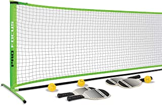 Pro Focus Pickleball Net Set - Complete with 4 Paddles, 3 Pickleball Balls, and 1 Official Size Net