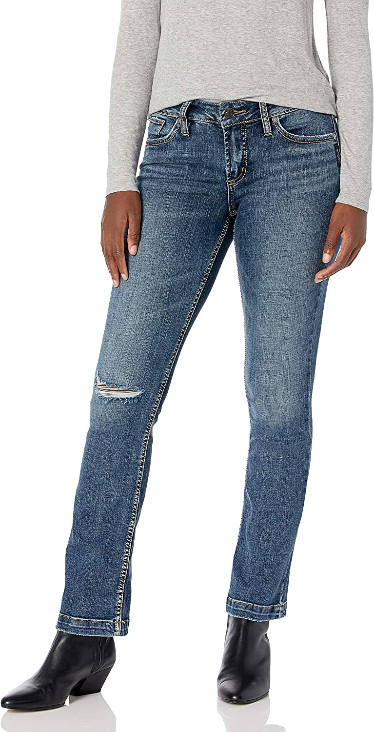 Silver Jeans Co. excellence Women's Elyse Curvy J Bootcut Mid Fit Slim Rise San Antonio Mall