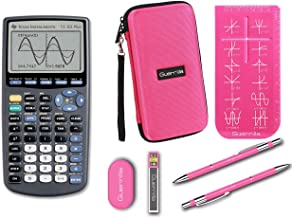 $99 » Texas Instruments TI-83 Plus Graphing Calculator + Guerrilla Zipper Case + Essential Graphing Calculator Accessory Kit (Pink)