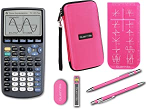 $119 » Texas Instruments TI-83 Plus Graphing Calculator + Guerrilla Zipper Case + Essential Graphing Calculator Accessory Kit (Pink)