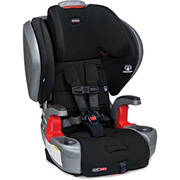 Britax Grow with You ClickTight Plus Harness-2-Booster Car Seat - 3 Layer Impact Protection - 25 to 120 Pounds, Jet Safewash Fabric [Newer Version of Pinnacle]