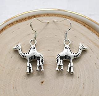 Camel Earrings for Women - 925 Sterling Silver Hooks - Safari Themed Gifts for Girls & Kids - Camel Jewelry