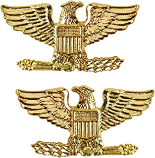 Tactical 365 Operation First Response Pair of Colonel Rank Insignia Pins for Police or Military (Small, Gold)
