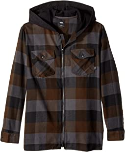 Vans Kids Never Mind Hooded Flannel (Big Kids)