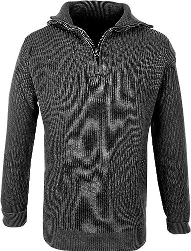 Homme Marine Troyer Pull 100% Coton Noir L