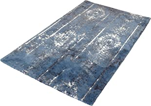Kleine Wolke Caracas Bath Mat, Cotton, Ice Blue, 70 x 120 cm
