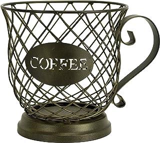 Boston Warehouse Coffee Mug Kup Keeper, Storage Basket, Brown