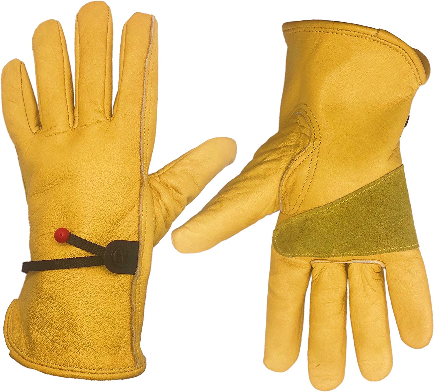 HomeGardenWish Cowhide At the Free shipping anywhere in the nation price Leather Work Heavy Duty Gloves Glove
