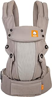 Baby Tula Coast Explore Mesh Baby Carrier 7 – 45 lb, Adjustable Newborn to Toddler Carrier, Multiple Ergonomic Positions Front and Back, Breathable – Coast Overcast, Light Gray with Light Gray Mesh