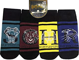 4 pares de calcetines de Harry Potter para tobillo y zapatos