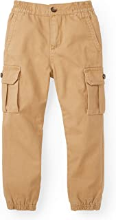 Hope & Henry Boys Lined Pull On Cargo Jogger Made Organic Cotton