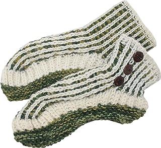 Gheri Mens Fleece Lined Multicolored Knitted Woolen Slipper Socks