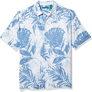 Cubavera Men's Tropical Leaf Print Short Sleeve Shirt
