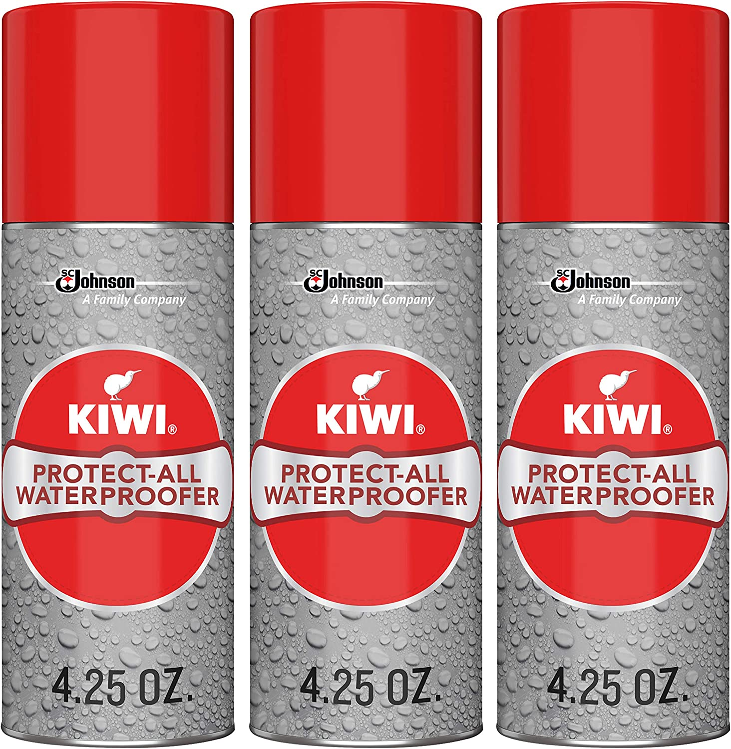 Kiwi Shoe Protector (3 Pack), Grey, 4.25 Ounce (Pack of 3)