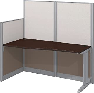 Bush Business Furniture Office in an Hour 65W x 33D Cubicle Workstation in Mocha Cherry