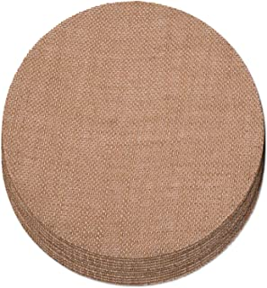 Create Your Space Burlap Placemats, 15 inch Round (Set of 12)