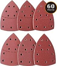 Fogli abrasivi 60 Pezzi Tacklife ASD02C Carte Abrasive 6 Tipi 10 Pezzi di 40/60/80/120/180/240 Graniglie per Levigare, Lucidare e Rugginire