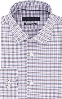 Tommy Hilfiger Men's Dress Shirt Stretch Slim Fit Check