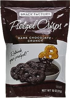 Snack Factory Pretzel Crisps, Dark Chocolate Crunch, 18 oz