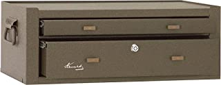 Kennedy Manufacturing MC22B 2-Drawer Machinist's Steel Tool Storage Chest Base with Friction Slides, 21