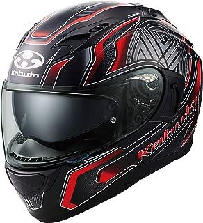 オージーケーカブト(OGK KABUTO)バイクヘルメット フルフェイス KAMUI3 CIRCLE(サークル) フラットブラックレッド (サイズ:L) 585693