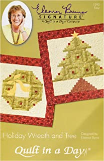 Quilt In A Day EB-1293 Eleanor Burns Pattern, Holiday Wreath and Tree Quilt
