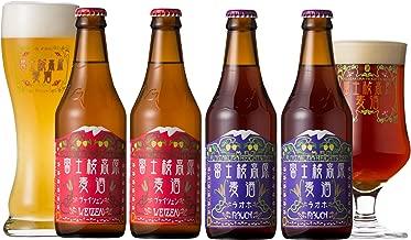 富士桜高原麦酒 クラフトビール ヴァイツェン2本&ラオホ2本