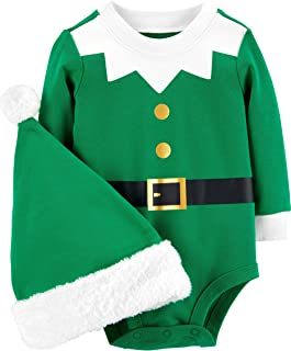 Carter's Baby 2-Piece Santa Bodysuit and Hat Set