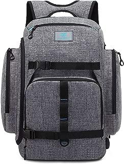 Srotek Laptop Backpack Large Computer Skateboard Backpack Water-Resistant Outdoor Business Rucksack with USB Charging Port for Men Women Fit 17.3 Inch Laptops & Notebook,Grey