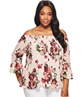 Plus Size Madelyn Off the Shoulder Floral Top