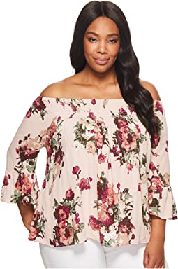 KARI LYN Plus Size Madelyn Off the Shoulder Floral Top